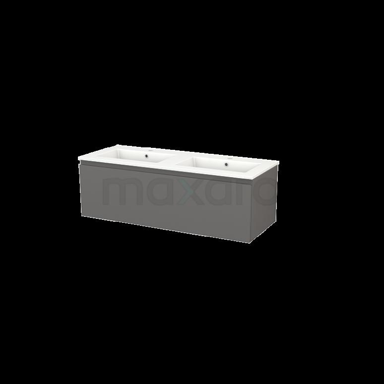 Badkamermeubel 120cm Modulo+ Basalt 1 Lade Greeploos Wastafel Keramiek