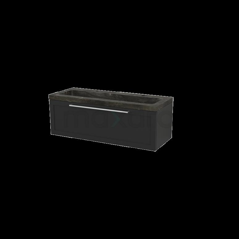Maxaro Modulo+ BMP002201 Badkamermeubel 120cm Modulo+ Carbon 1 Lade Kader Natuursteen Blue Stone