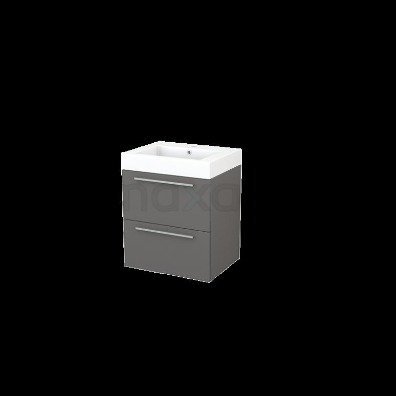 Maxaro Modulo+ BMP002376 Badkamermeubel 60cm Modulo+ Basalt 2 Lades Vlak Mineraalmarmer