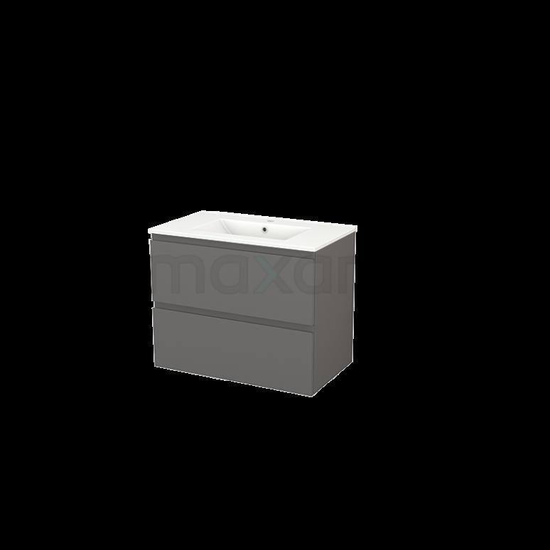Maxaro Modulo+ BMP002783 Badkamermeubel 80cm Modulo+ Basalt 2 Lades Greeploos Keramiek