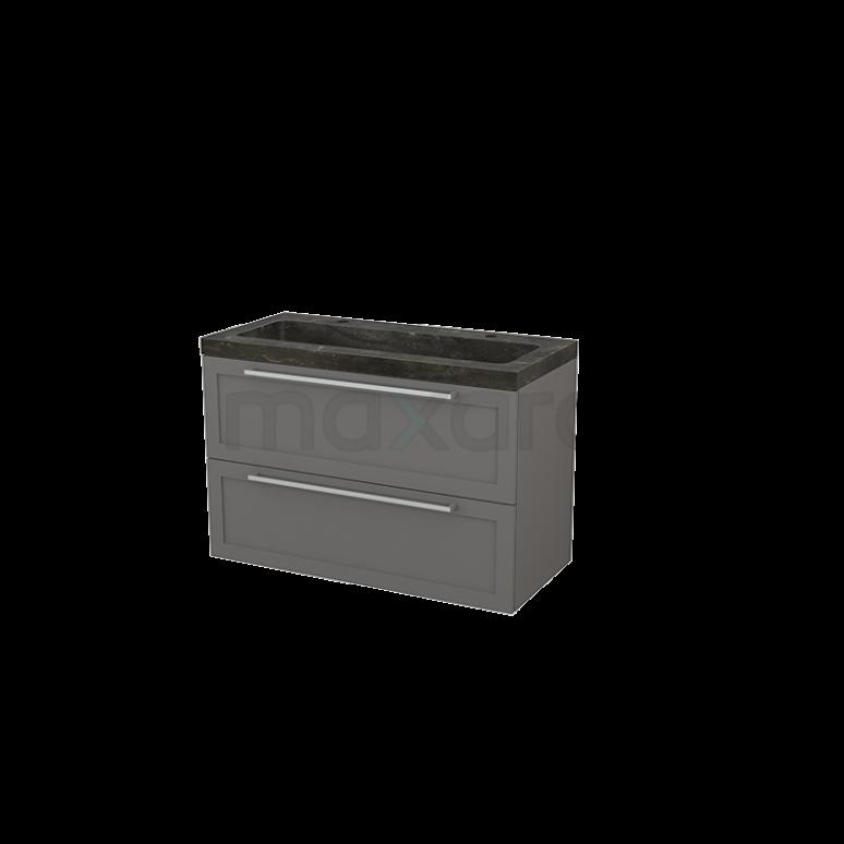 Maxaro Modulo+ BMP003184 Badkamermeubel 100cm Modulo+ Basalt 2 Lades Kader Natuursteen Blue Stone