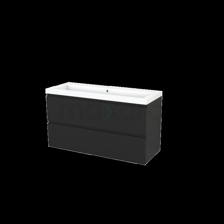 Maxaro Modulo+ BMP003508 Badkamermeubel 120cm Modulo+ Carbon 2 Lades Greeploos Mineraalmarmer