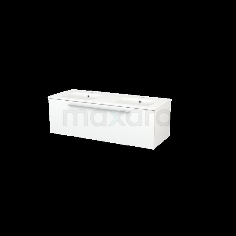 Maxaro Modulo+ BMP004274 Badkamermeubel 120cm Modulo+ Mat Wit 1 Lade Vlak Wastafel Keramiek