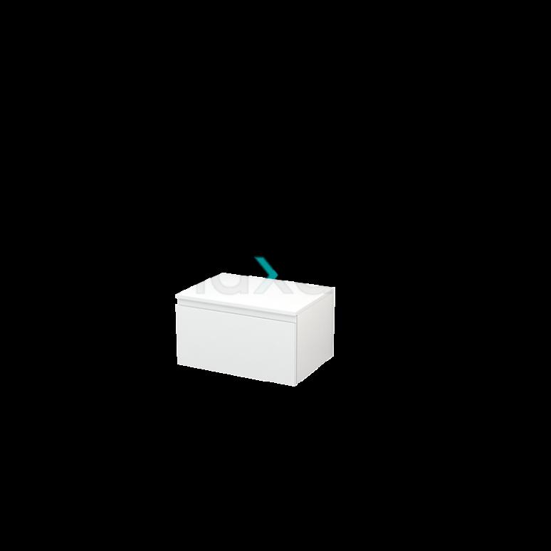 Hangende Badkamerkast Modulo+ 60x35cm Hoogglans Wit 1 Lade