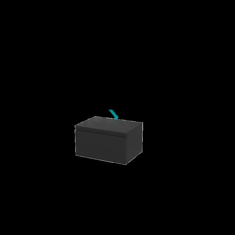 Hangende Badkamerkast Modulo+ 60x32cm Carbon 1 Lade