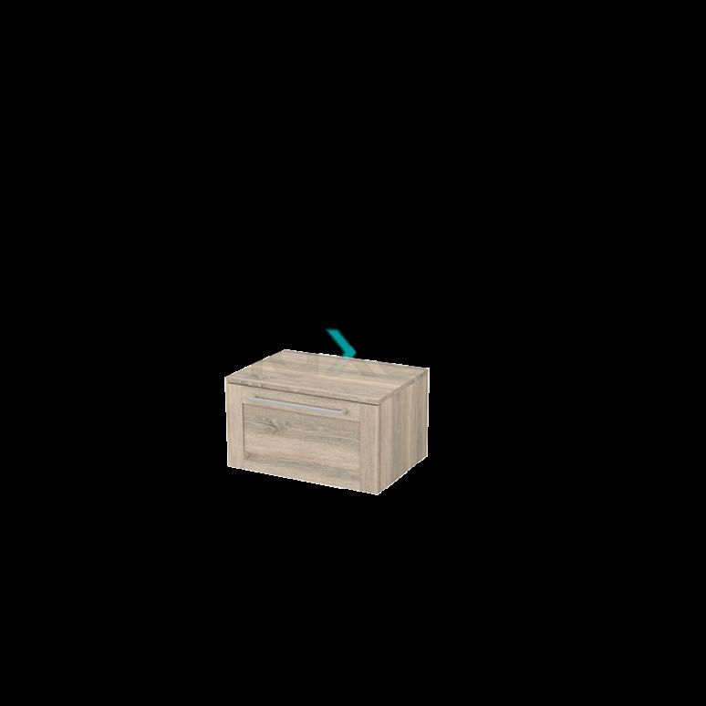 Hangende Badkamerkast Modulo+ 60x35cm Eiken 1 Lade
