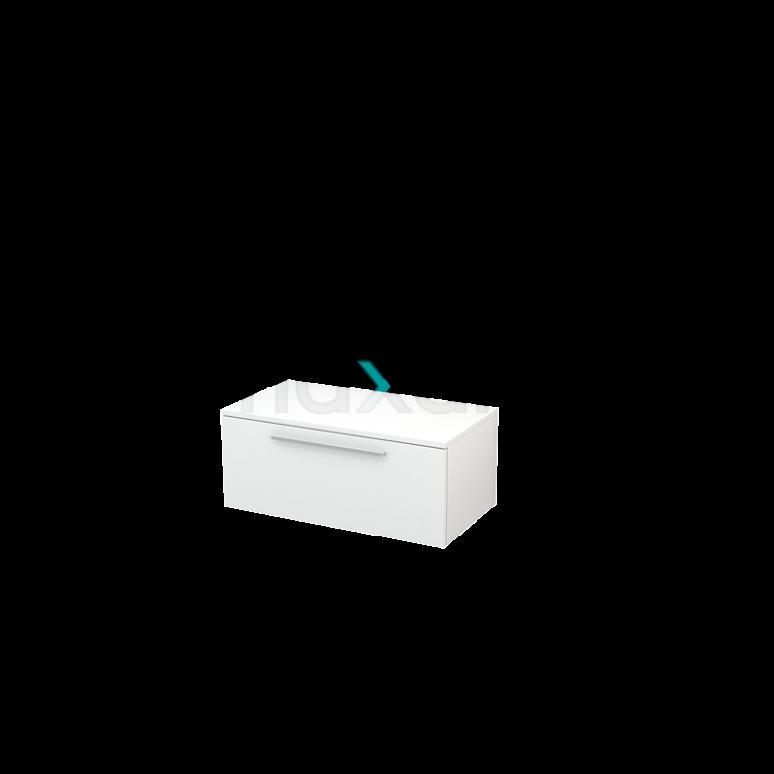 Hangende Badkamerkast Modulo+ 80x35cm Hoogglans Wit 1 Lade