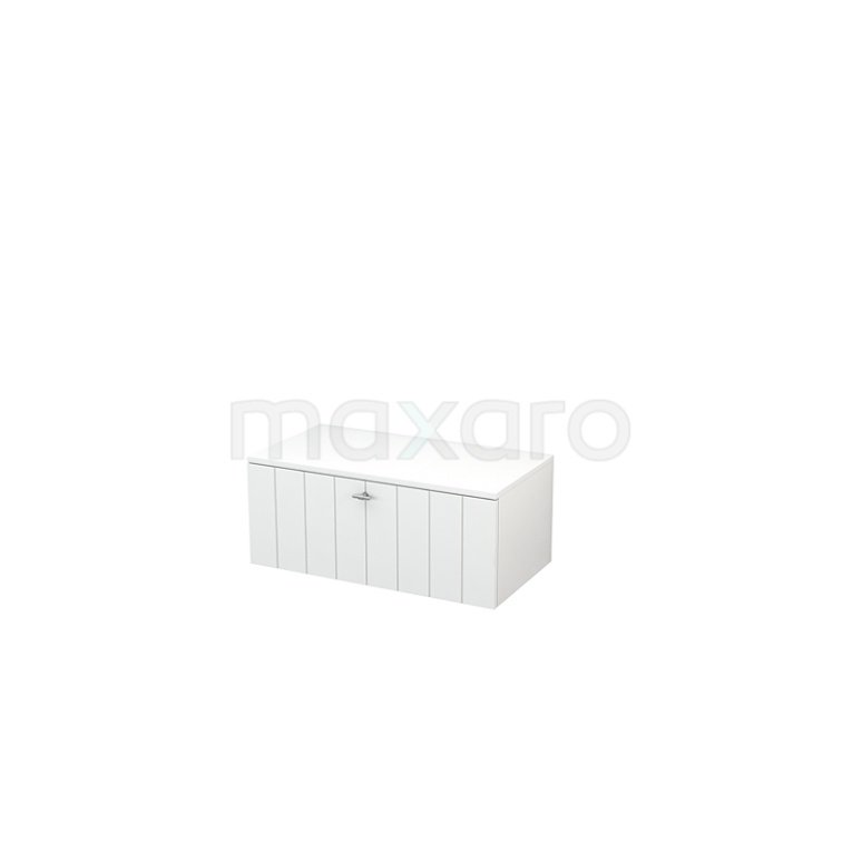 Hangende Badkamerkast Modulo+ 80x32cm Hoogglans Wit 1 Lade