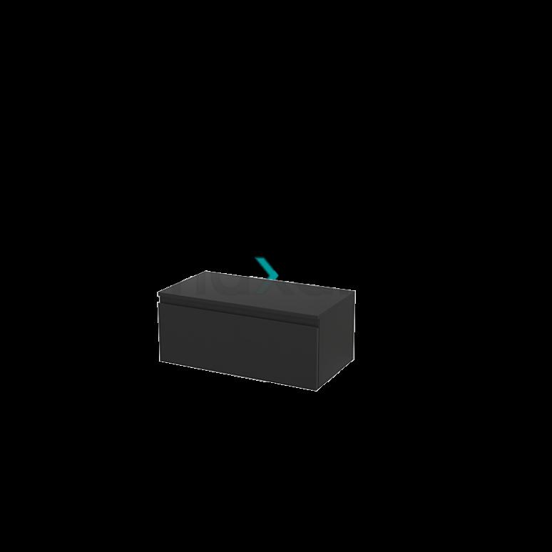Hangende Badkamerkast Modulo+ 80x35cm Carbon 1 Lade