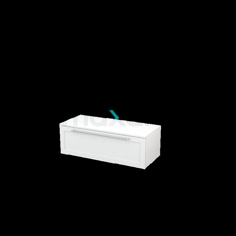 Hangende Badkamerkast Modulo+ 100x32cm Hoogglans Wit 1 Lade