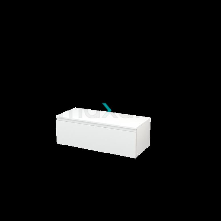 Hangende Badkamerkast Modulo+ 100x35cm Hoogglans Wit 1 Lade