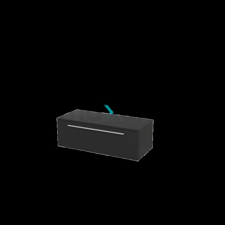 Hangende Badkamerkast Modulo+ 100x35cm Carbon 1 Lade