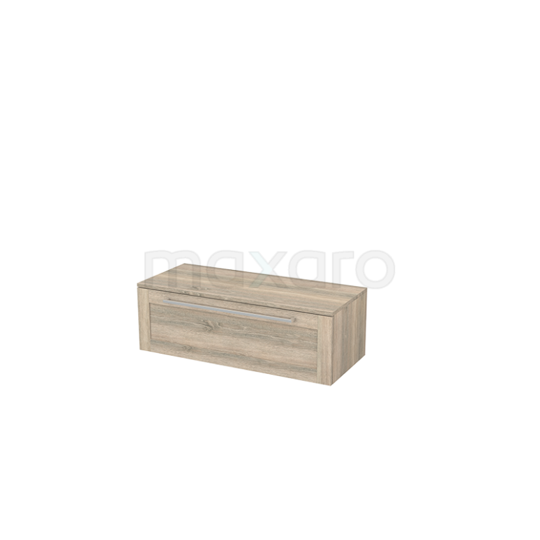 Hangende Badkamerkast Modulo+ 100x32cm Eiken 1 Lade
