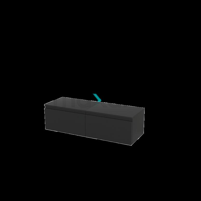 Hangende Badkamerkast Modulo+ 120x32cm Carbon 2 Lades