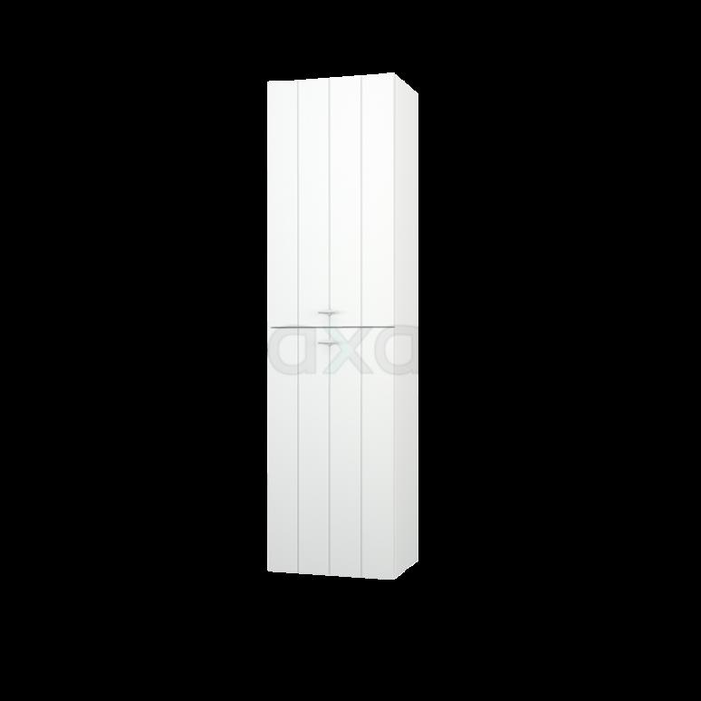 Badkamerkast Grande+ 150x40cm Hoogglans Wit 2 Deuren Lamel