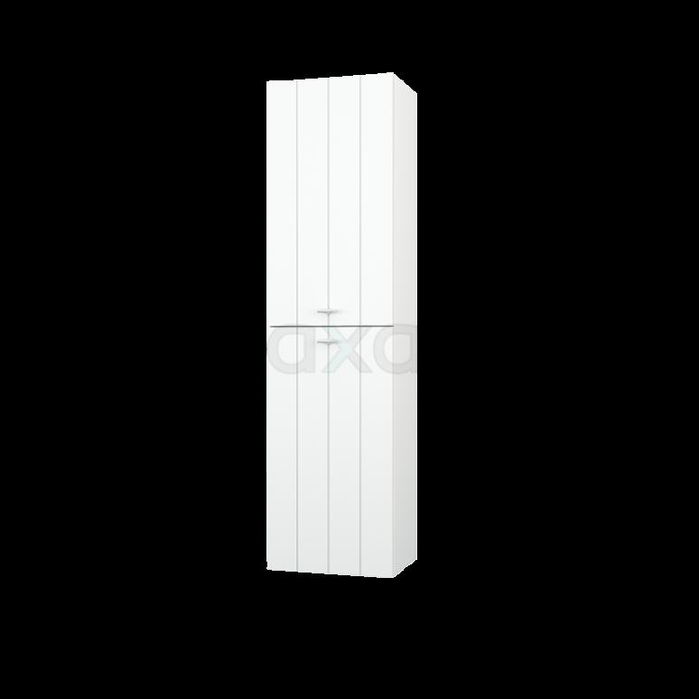 Badkamerkast Grande+ 150x40cm Mat Wit 2 Deuren Lamel