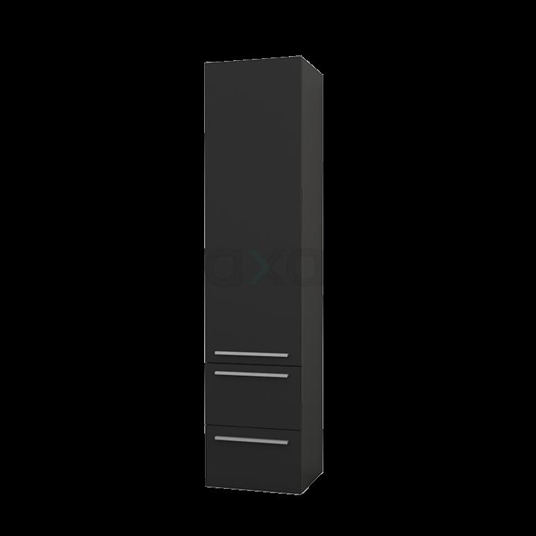 Badkamerkast Lungo+ 170x40cm Carbon 1 Deur