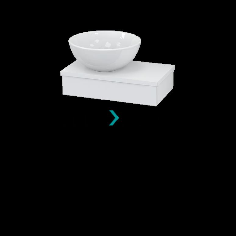 Toiletmeubel met Waskom Keramiek Modulo+ Pico Hoogglans Wit 40cm