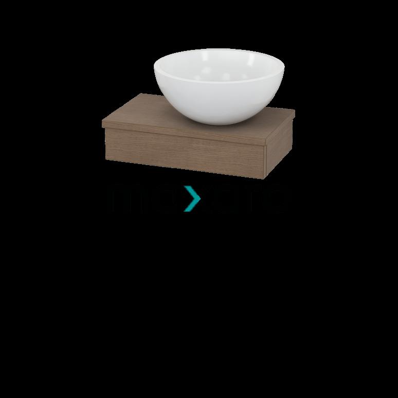 Toiletmeubel met Waskom Mineraalmarmer Glanzend 40cm Modulo Pico Bruin