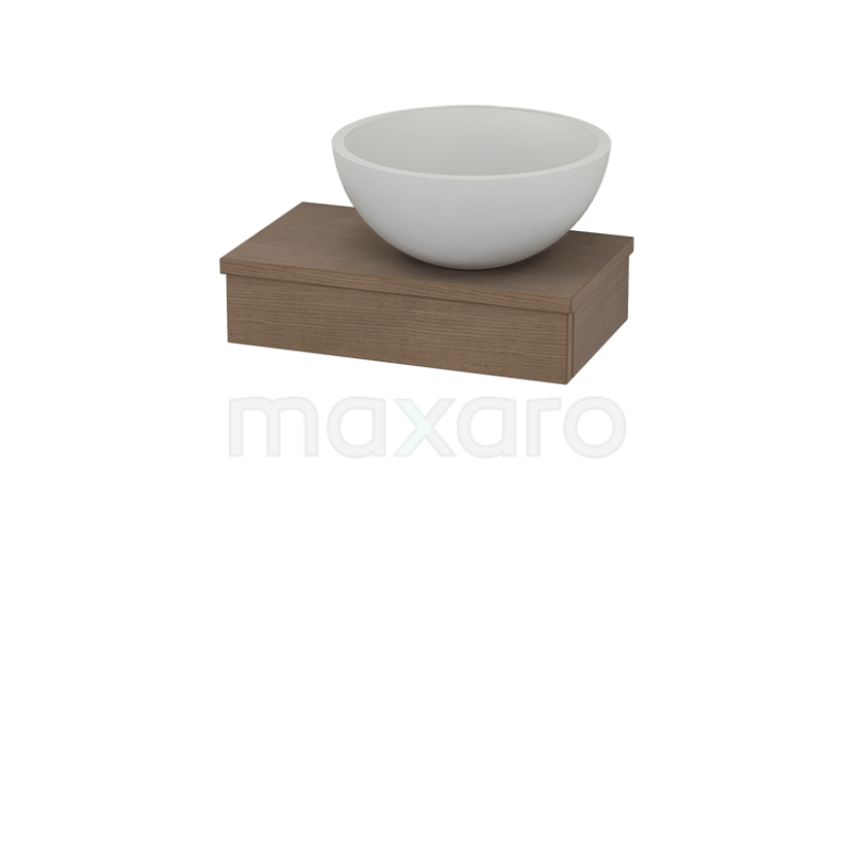 Toiletmeubel met Waskom Solid Surface Mat 40cm Modulo Pico Bruin