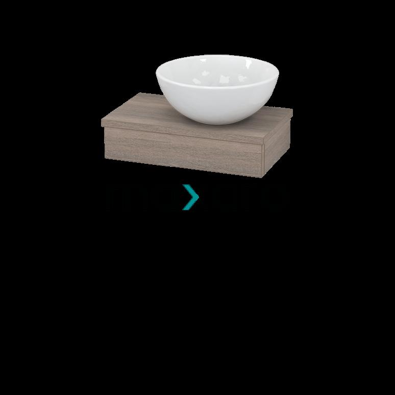 Toiletmeubel met Waskom Keramiek 40cm Modulo Pico Eiken