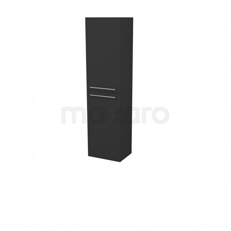 Badkamerkast Box 150x40cm Zwart 2 Deuren