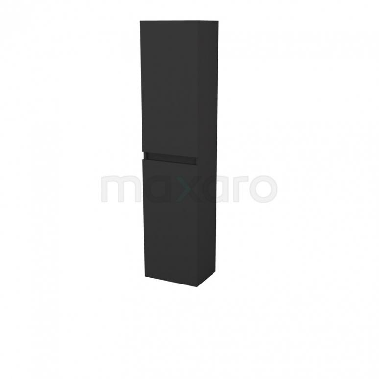 Badkamerkast Fianco 170x40cm Mat Zwart links- en rechtsdraaiend