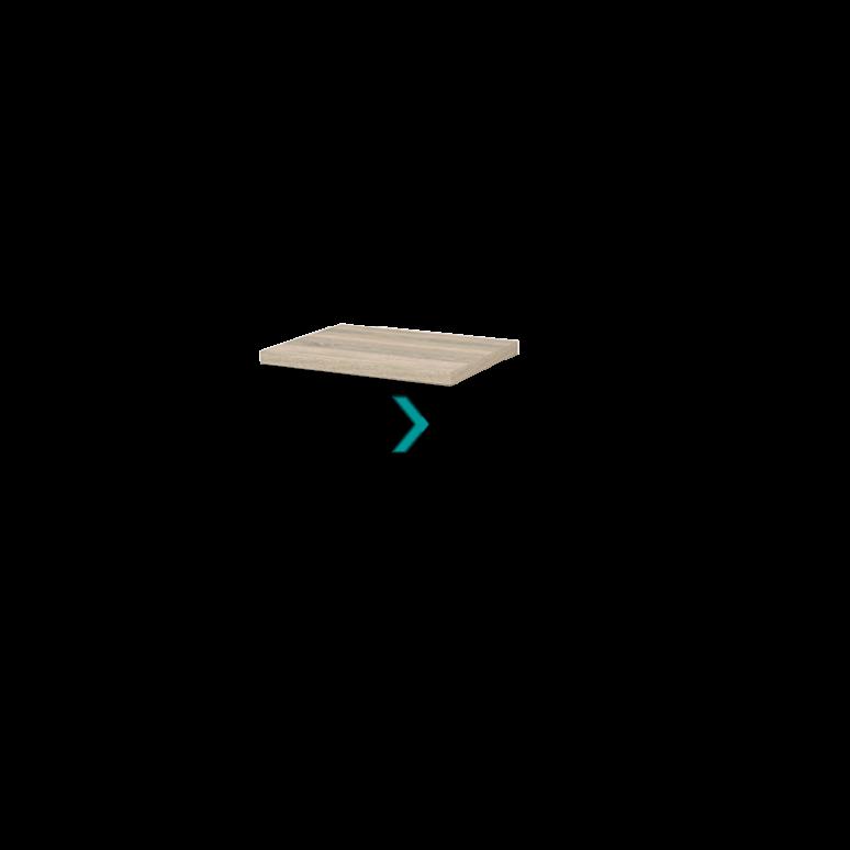 Wastafelblad Modulo+ Plato 60cm Eiken