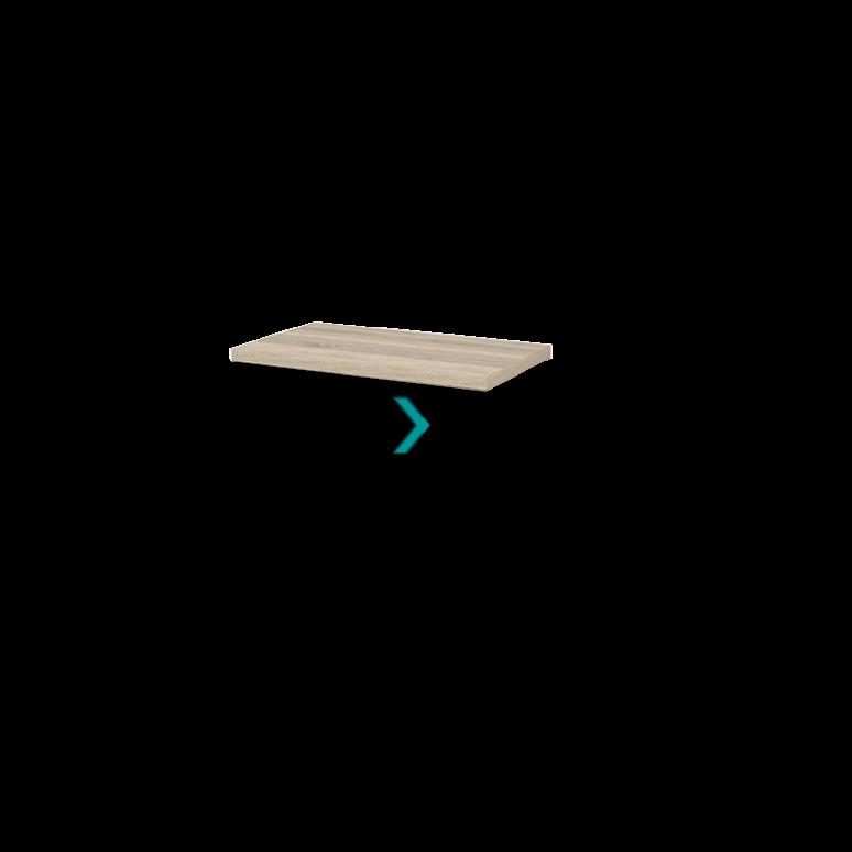 Wastafelblad Modulo+ Plato 80cm Eiken