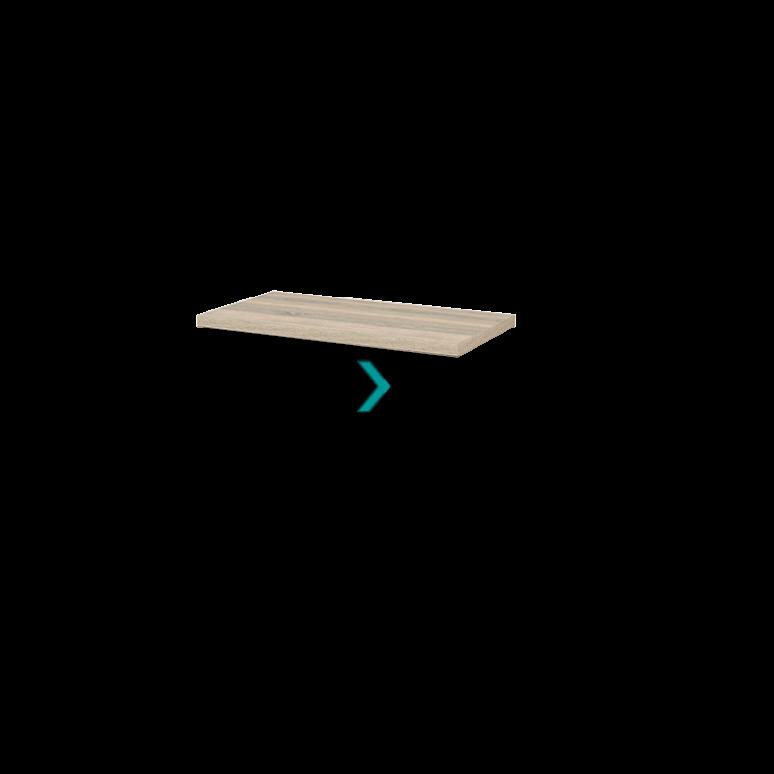 Wastafelblad Modulo+ Plato 90cm Eiken