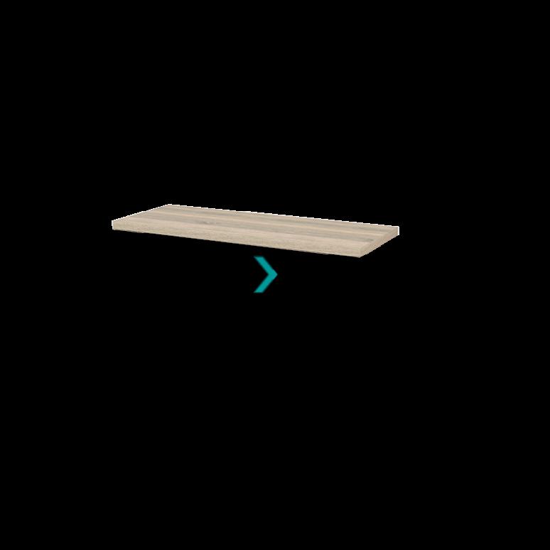 Wastafelblad Modulo+ Plato 120cm Eiken