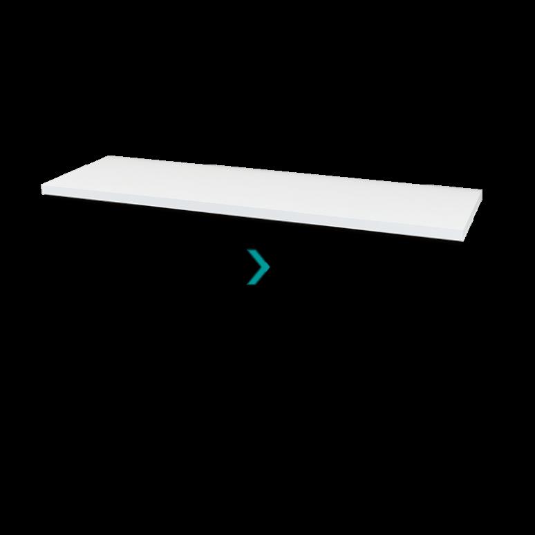 Wastafelblad Modulo Plato 150cm Hoogglans Wit