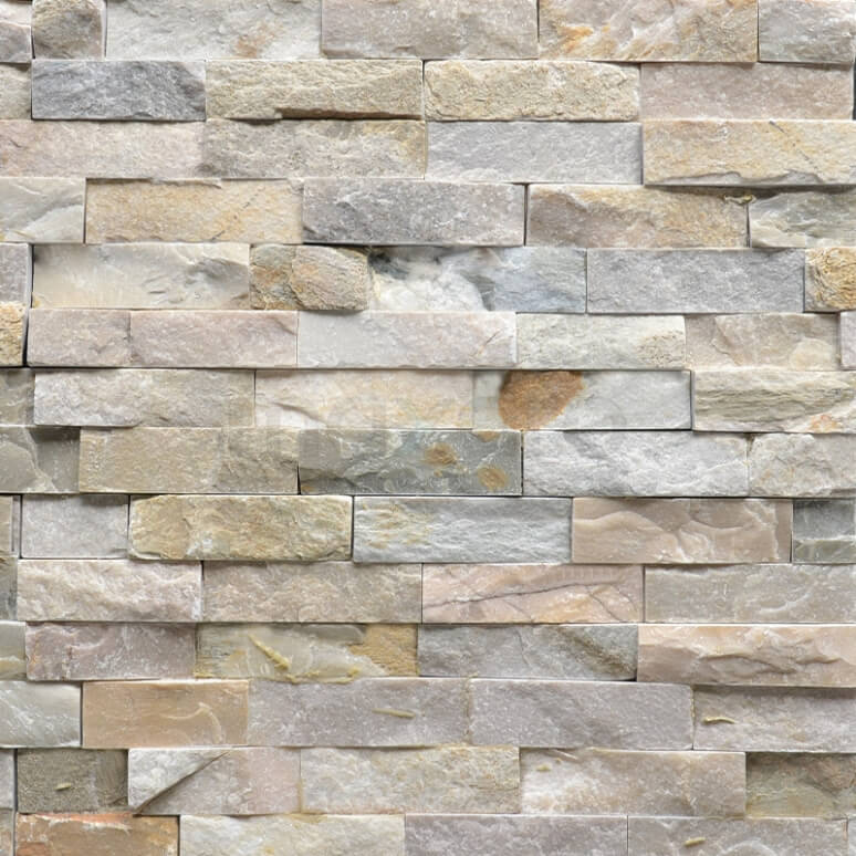 Steenstrips Brick Island 15x60cm Natuursteen Multicolor