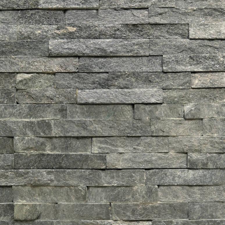 Steenstrips Brick Black Star 15x60cm Natuursteen Antraciet