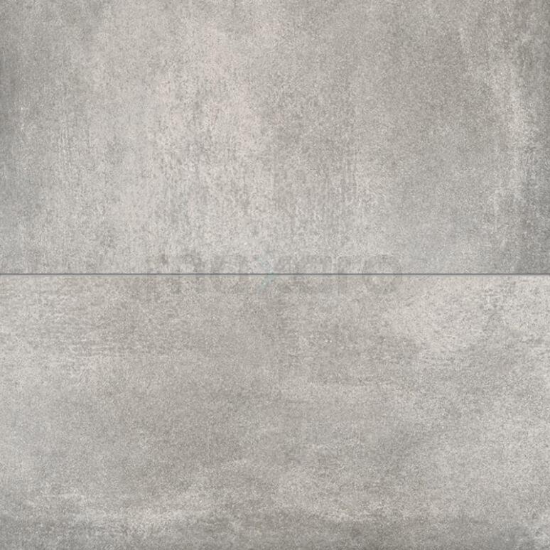 Vloertegel/Wandtegel Dust Storm 30x60cm Betonlook Grijs Gerectificeerd