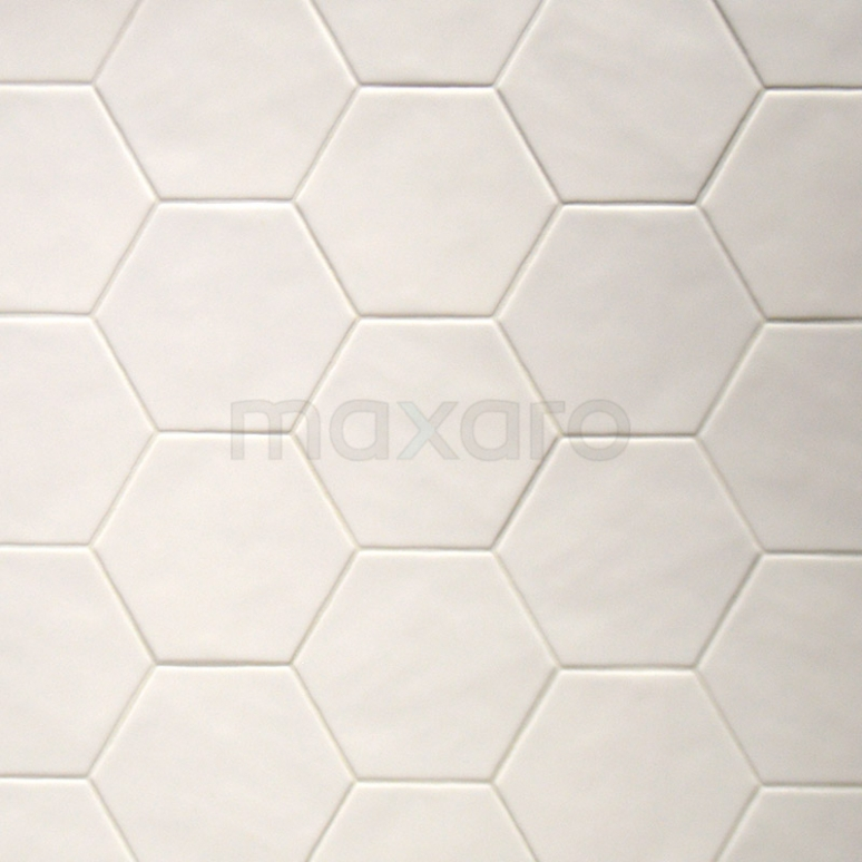 Wandtegel Geo 15x17cm Wit Mat Hexagon