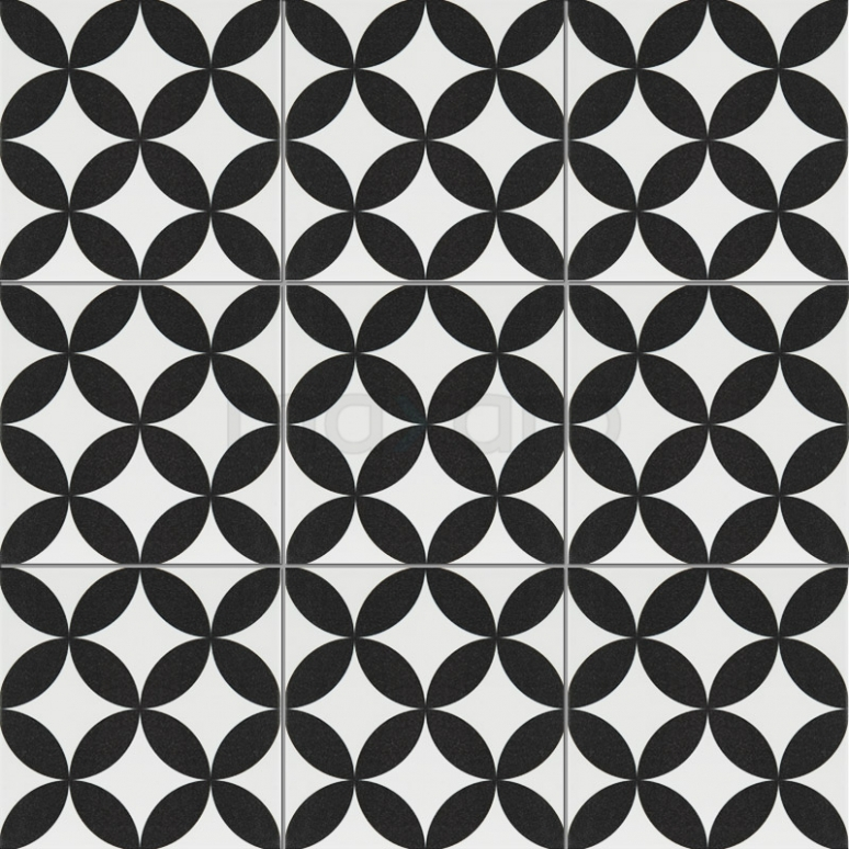 Vloertegel/Wandtegel Memory Retro White 20x20cm Portugees Multicolor