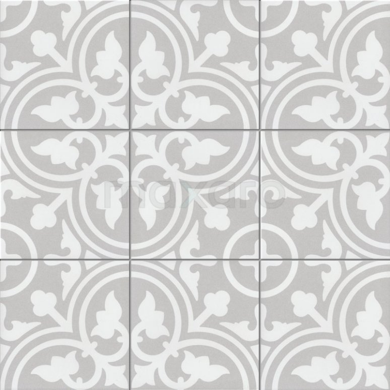 Vloertegel/Wandtegel Memory Classic Grey 20x20cm Portugees Multicolor