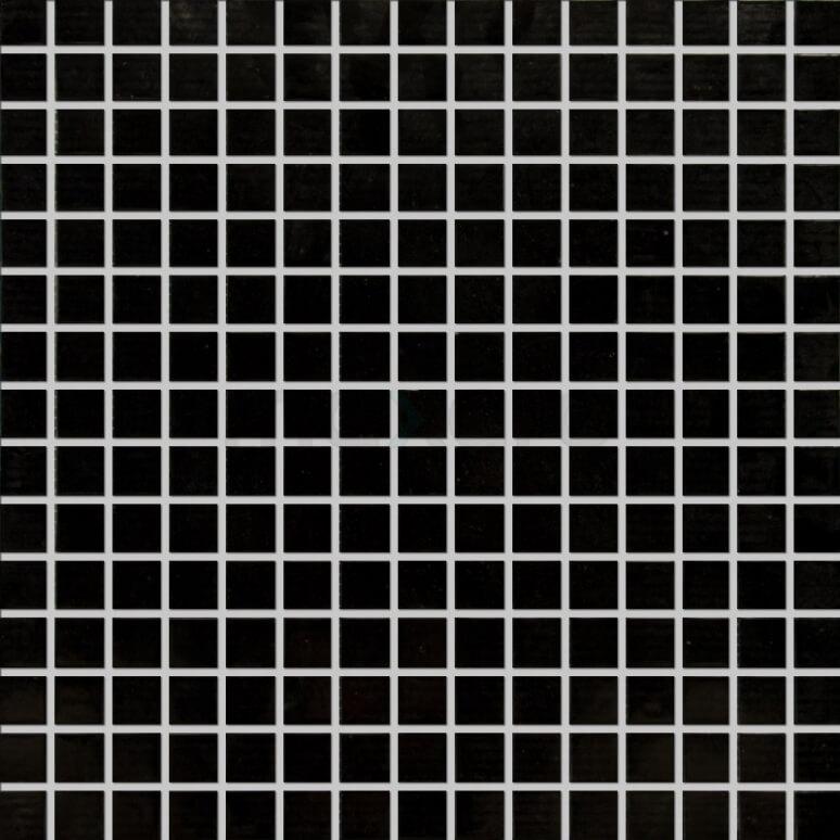 Glasmozaïek Wave Black Star 32,7x32,7cm Zwart Glanzend