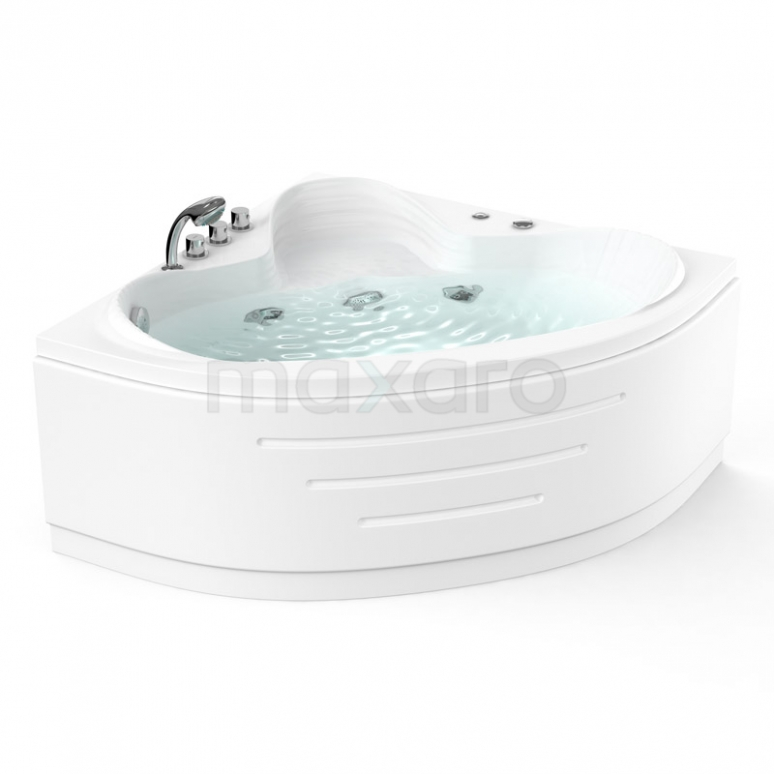 Whirlpool Bad Arctic Brass 1 Persoons 120x120cm Watermassage