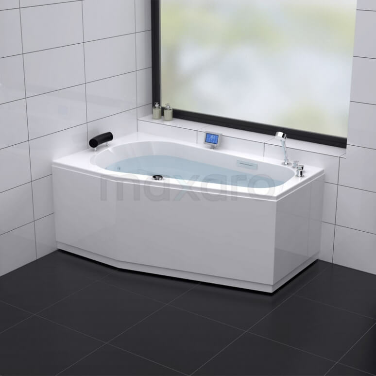 Whirlpool Bad Atlantic Silver 1 Persoons Links 170x100cm Watermassage