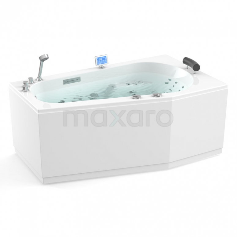 Whirlpool Bad Atlantic Platinum 1 Persoons Rechts 170x100cm Water- en luchtmassage met Turbo